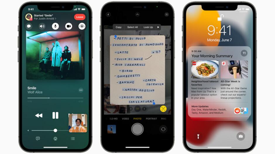 iOS 15-หน้าจอ